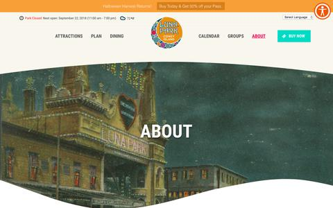 Screenshot of About Page lunaparknyc.com - About - Luna Park Coney Island - captured Sept. 22, 2018