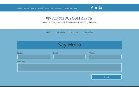 Screenshot of Contact Page cc94.com - Conscious Commerce - captured Dec. 5, 2015