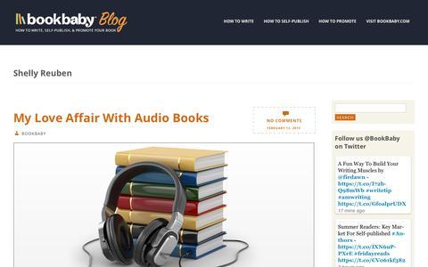 Screenshot of Blog bookbaby.com - Shelly Reuben | BookBaby Blog - captured Feb. 27, 2017