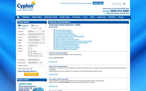 Screenshot of FAQ Page cyplon.co.uk - Frequently Asked Questions  Cyplon - captured Oct. 3, 2014