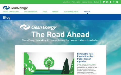 Screenshot of Blog cleanenergyfuels.com - Blog | Clean Energy Fuels - captured Oct. 31, 2014