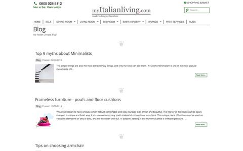 Screenshot of Blog myitalianliving.com - My Italian Living's BlogMy Italian Living Ltd - captured Sept. 30, 2014
