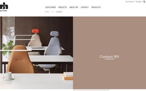 Screenshot of Contact Page flokk.com - Contact - Flokk - captured Nov. 20, 2018
