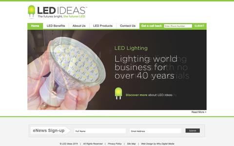 Screenshot of Home Page Privacy Page Site Map Page ledideas.co.uk - LED Ideas  | Lighting Design and Supply Specialists | LED Lighting Solutions| LED Lighting - captured Oct. 1, 2014