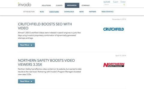 Screenshot of Case Studies Page invodo.com - Case Studies Archive - Invodo - captured Sept. 16, 2014