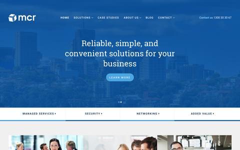 Screenshot of Home Page mcr.com.au - Home - mcr Computer Resources : mcr Computer Resources - captured Aug. 2, 2015