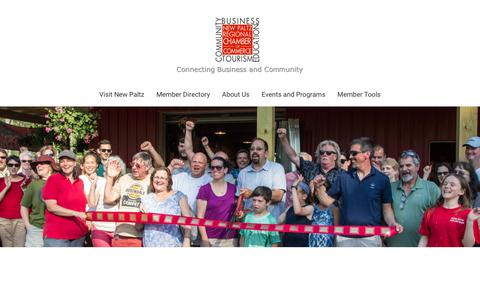 Screenshot of About Page newpaltzchamber.org - About Us - New Paltz Regional Chamber of Commerce | New Paltz, NY 12561 - captured Oct. 1, 2018