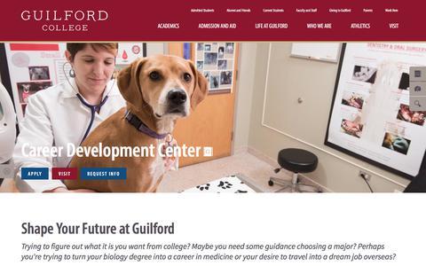Screenshot of Jobs Page guilford.edu - Career Development Center | Guilford College - captured Sept. 22, 2017