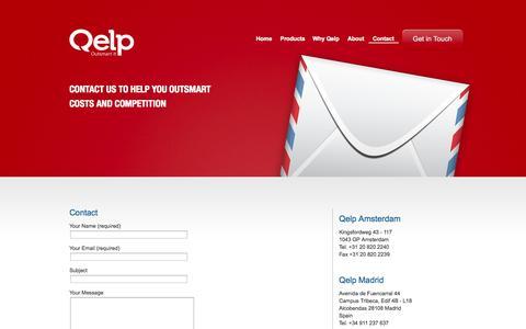 Screenshot of Contact Page qelp.com - Contact   Qelp - captured Sept. 29, 2014