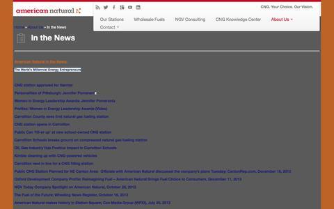 Screenshot of Press Page americannatural.com - American Natural: In the News | American Natural - captured Dec. 25, 2015