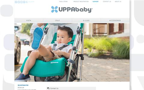 Screenshot of Support Page uppababy.com - Support - UPPAbaby - captured Dec. 24, 2017