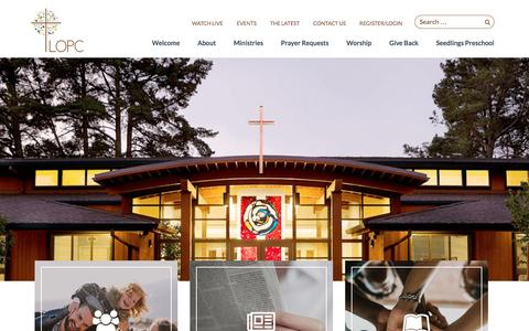 Screenshot of Home Page lopc.org - Lafayette-Orinda Presbyterian Church - captured Oct. 18, 2016