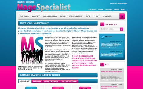 Screenshot of Home Page magespecialist.it - MageSpecialist Soluzione E-commerce - captured Sept. 24, 2014