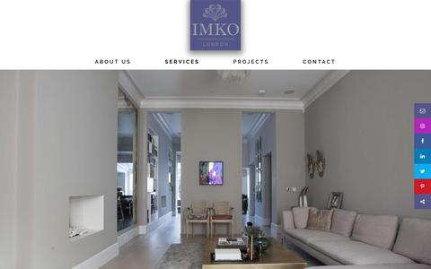 Screenshot of Services Page imko.co.uk - IMKO London | High-end luxury construction builder - captured July 26, 2018