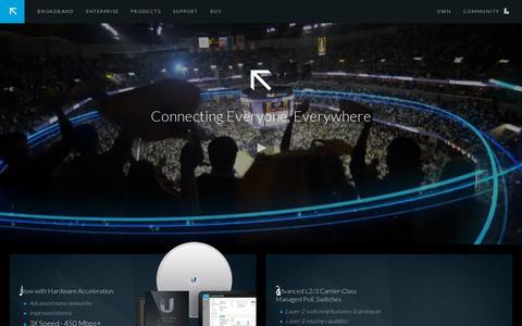 Screenshot of Home Page ubnt.com - Ubiquiti Networks - Home - captured July 12, 2014