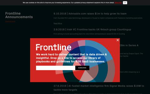 Screenshot of Press Page frontline.vc - Frontline - captured Oct. 11, 2018