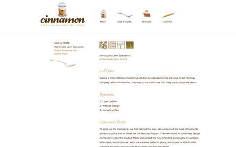 Screenshot of Case Studies Page worldofcinnamon.com - Cinnamon | Case Studies | Northcoast Lawn - captured Jan. 28, 2016