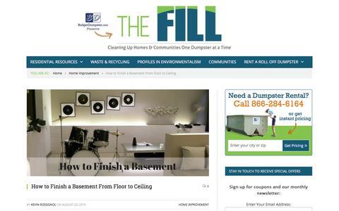 Screenshot of Blog budgetdumpster.com - How to Finish a Basement | Steps to Finishing a Basement - captured Oct. 27, 2016