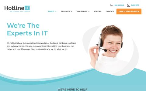 Screenshot of Team Page hotlineit.com - We're The Experts In IT | Hotline IT - captured Dec. 16, 2018