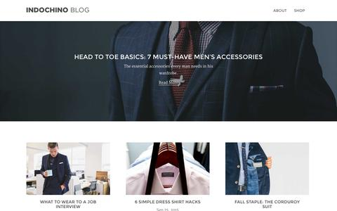 Screenshot of Blog indochino.com - Indochino Blog - captured Oct. 1, 2015