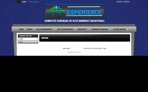 Screenshot of Press Page jrallstar.com - News - captured Oct. 6, 2014