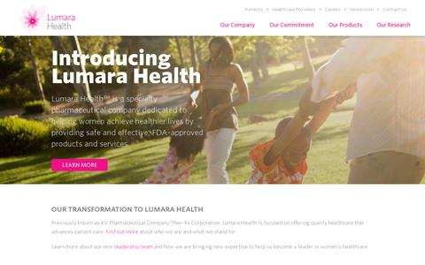 Screenshot of Home Page lumarahealth.com - Home - Lumara Health - captured July 11, 2014