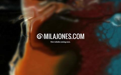 Screenshot of Home Page milajones.com - MilaJones.com - captured Oct. 9, 2014