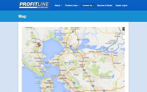 Screenshot of Maps & Directions Page profitlineav.com - Profit Line Distributing – Map - captured Oct. 3, 2014