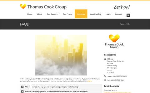 Thomas Cook Group – FAQs