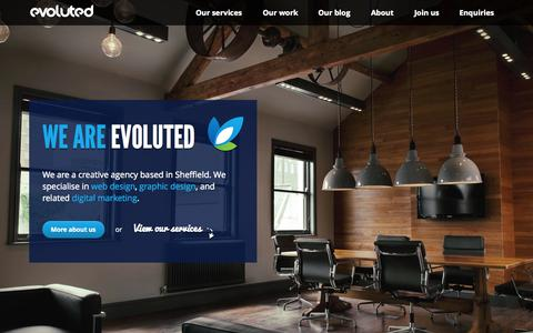 Screenshot of Home Page evoluted.net - Web Design Sheffield - Evoluted Sheffield Website Design & SEO - captured Sept. 23, 2014