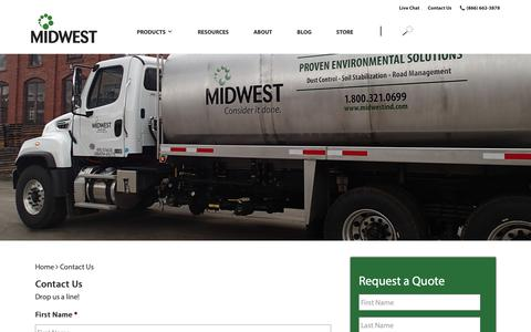 Screenshot of Contact Page midwestind.com - Contact Us - Midwest Industrial Supply - captured Nov. 2, 2018