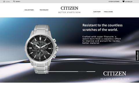 Screenshot of Home Page citizenwatches.com.au - Eco-Drive Watches, Fashion Watches, Promaster Sport Watches by Citizen | Citizen Watches Australia - captured July 1, 2017
