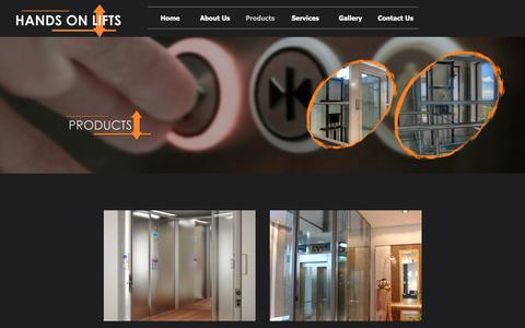 Screenshot of Products Page handsonlifts.co.za - Products - captured Sept. 27, 2018