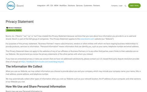 Privacy Policy - Dell Boomi
