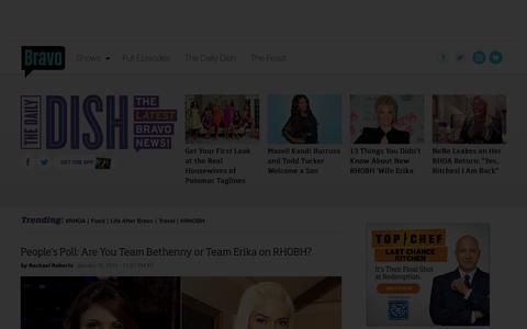 Screenshot of Press Page bravotv.com - The Daily Dish | Bravo TV News - captured Jan. 16, 2016
