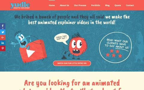 Screenshot of Home Page Terms Page yudle.co.uk - Animated Explainer Videos | Whiteboard Animations | 2D Animation Studio - captured April 7, 2017