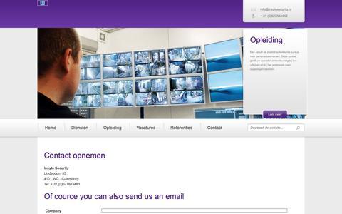Screenshot of Contact Page insytesecurity.nl - Contact - Insyte Security - captured Sept. 30, 2014