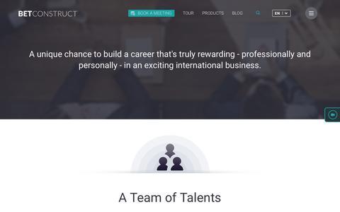 Screenshot of Jobs Page betconstruct.com - Serge says... - captured Dec. 8, 2016