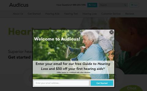 Digital Hearing Aids Online | Audicus