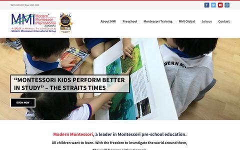 Screenshot of Home Page modern-montessori.com - Modern Montessori International   Modern Montessori International Group - captured Oct. 22, 2018