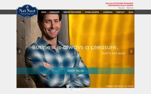 Screenshot of Home Page natnast.com - Nat Nast Luxury Originals - captured Oct. 7, 2014