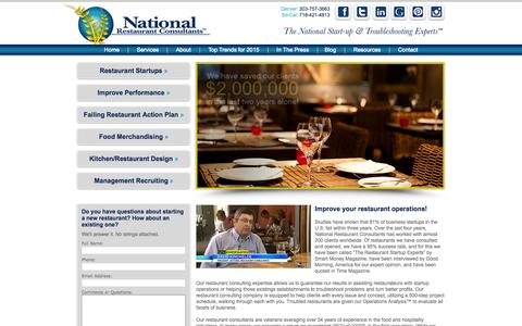 Screenshot of Home Page restaurantconsulting.us - National Restaurant Consultants | Restaurant Consulting - captured Oct. 7, 2015