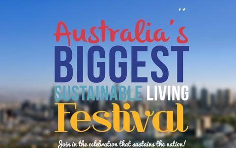 Screenshot of Home Page slfestival.org - National Sustainable Living Festival - captured Oct. 7, 2014