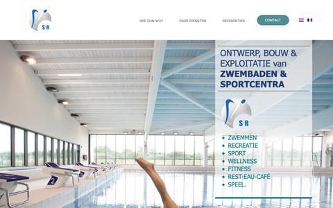 Screenshot of Home Page sr-group.be - S&R Group: Ontwerp, bouw & exploitatie van zwembaden en sportcentra – Ontwerp, bouw & exploitatie van zwembaden en sportcentra - captured Nov. 5, 2018