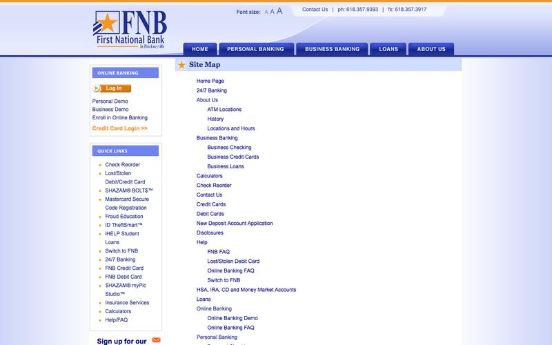 Web design example a page on fnbpville crayon reheart Choice Image