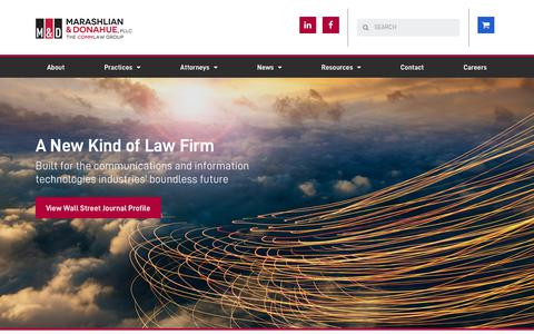 Screenshot of Home Page commlawgroup.com - Welcome | Telecom Law Firm | The CommLaw Group - Top Telecom Law Firm and Telecom Lawyers - captured Nov. 15, 2018