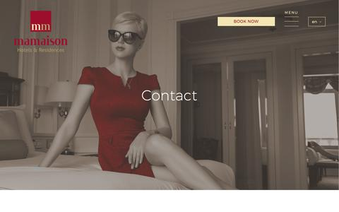 Screenshot of Contact Page mamaison.com - Contact :: Mamaison Hotels & Residences - captured Oct. 5, 2017