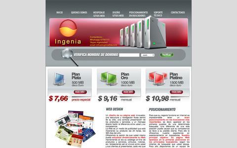 Screenshot of Home Page ingenialtda.com - Hospedaje paginas web|Hospedaje sitios web|Hospedaje - captured June 4, 2016