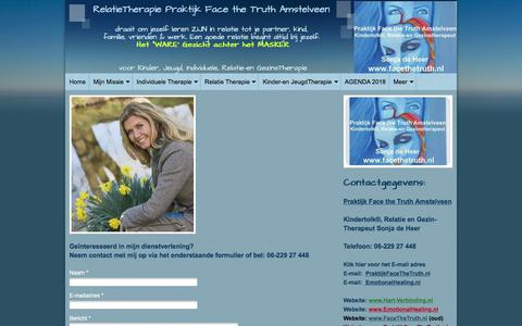 Screenshot of Contact Page praktijkfacethetruth.nl - Praktijk Face the Truth Amstelveen - Contact - captured Aug. 12, 2018