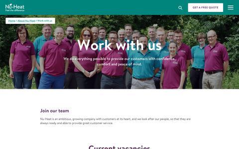 Screenshot of Jobs Page nu-heat.co.uk - Looking For Renewable Energy Jobs? Heating Jobs with Nu-Heat - captured July 12, 2019